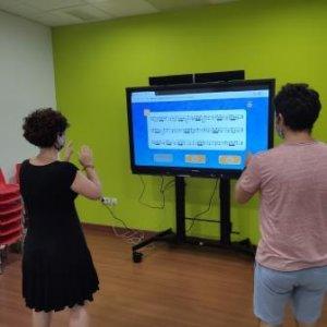 Pizarra digital para las clases de lenguaje musical