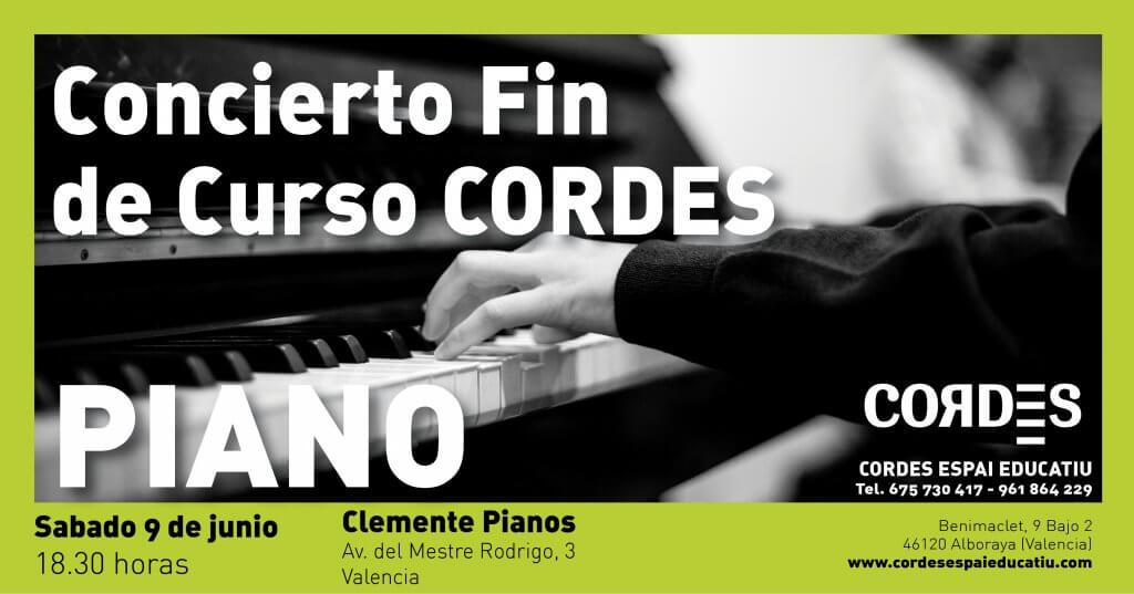 Concierto final de curso CORDES Espai Educatiu Pianos